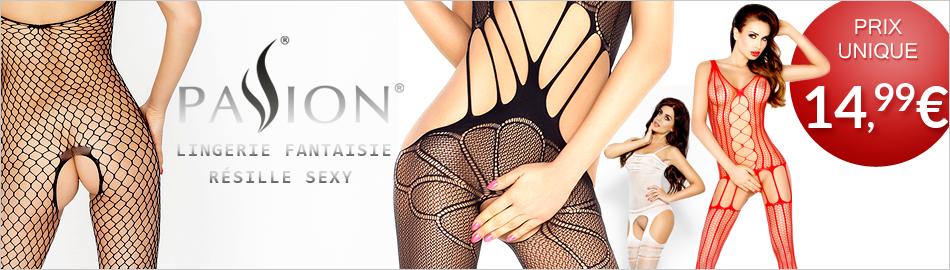 Passion, lingerie sexy r�sille fantaisie au prix unique de 14,99�