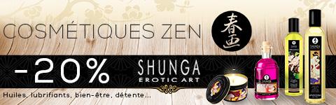 Les cosm�tiques zen de Shung : lubrifiants, huiles de massages, baumes aphrodisiaques sont tous � -20% !