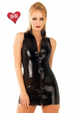 Robe Front Zip Polo latex - Robe zipp�e col polo en latex haute qualit�.