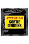 Préservatif humour - Attention Sortie D'engins