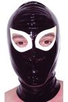 Cagoule latex Gag - Cagoule en latex haute qualité. Orifices pour les yeux et les narines.