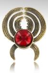 Pince à sein Elisabeth - Un bijou de sein unique composé d'une pince pour téton en bronze sertie  de son cristal (7 couleurs).