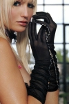 Gants tulle Couture Strass