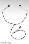 Y-Style - Perles pourpres - Collier en perles � fixer sur les seins et le clitoris par des pinces ajustables.