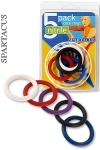 Pack 5 CockRings Nitrile - Un pack de 5 cock rings colorés en Nitrile, résistants et flexibles, haute qualité.