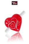 Coeur magnétique  Cri du coeur - Un petit coeur magnétique dans lequel glisser sa déclaration d'amour.