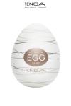 Tenga Egg Silky - Masturbateur nouvelle g�n�ration avec  nervures en forme de filaments de soie pour vous faire fondre de plaisir.