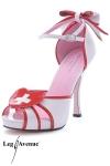 Sandales Infirmi�re Jackie - Sandales blanches en vinyle style infirmi�re, un fantasme glamour jusqu'au bout des pieds... mont� sur des talons de 12 cm.