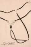 String bijou Caresses du Nil - argent - Un string bijou hautement sensuel, qui orne vos reins en secret...