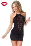 Robe Diamond Lace - Petite robe noire moulante et dos nu, offrant une fen�tre de dentelle profond�ment ouverte sur votre d�collet�.