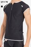 Tee shirt pour homme en résille large et lycra, à combiner avec la gamme de lingerie Mixing pour un style parfait.