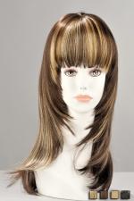 Perruque Kate - Perruque mi-longue effil�e en cheveux synth�tiques r�alistes. Une m�tamorphose pleine de f�minit�.