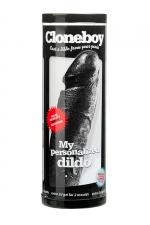 Dildo personnalis� Cloneboy noir : Un gode repr�sentant une copie exacte de votre p�nis en silicone noir.