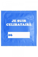 Préservatif humour - Je Suis Célibataire Bleu - Préservatif   Je Suis Célibataire Bleu , un préservatif personnalisé humoristique de qualité, fabriqué en France, marque Callvin.
