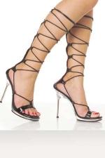 Sandales talons aiguille Diane - Sandales la��es, talons aiguille m�tal de 11,5 cm, semelle plateforme de 1 cm.