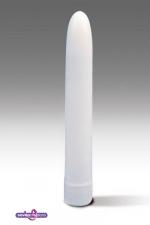 Vibromasseur lisse blanc - vibromasseur simple pour une premi�re experience en solo ou accompagner vos �bats.