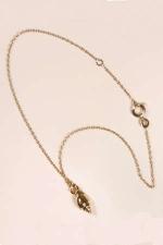 Chaine de cheville Coquillage OR - Le coquillage de cheville plaqu� or, � porter ajust� ou en pendentif.