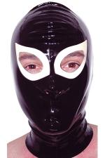 Cagoule latex Gag - Cagoule en latex haute qualit�. Orifices pour les yeux et les narines.