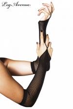 Gants1 doigt r�sille - Gants 1 doigt fantaisie, accessoire indispensable de vos tenues r�sille.