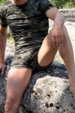 Boxer Army - Boxer moulant en tissus extensible imprim� d'un motif camouflage.