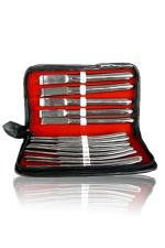 Trousse 14 dilatateurs Hegar - Un Set luxueux de 14 dilatateurs d'ur�tre en acier chirurgical fournis dans leur �tui.