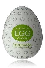 Tenga Egg Clicker - Le masturbateur Tenga en forme d'oeuf avec ses nervures arrondies pour vous inonder de plaisir!