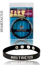 Collier cuir Mistress - Un collier de Maitresse en cuir - by Spartacus - pour afficher votre statut.
