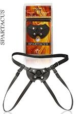 Gode ceinture cuir mixte - Ce gode-ceinture haute qualit�, Tout en cuir, est un tr�s grand classique de la marque Spartacus.