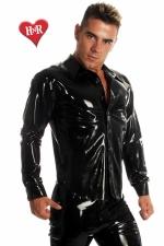 Chemise Rubber Shirt latex - Chemise en latex haute qualit�, un classique revisit� dans une mati�re d'exception.