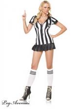 Costume sexy Arbitre - Costume d'arbitre f�minin tr�s sexy - et incorruptible, cela va de soi - robe, sifflet, et chaussettes assorties.