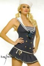 Costume marin Shipment Cutie - Costume sexy comprenant la robe et le chapeau de marin.