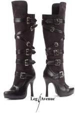 Bottes Bandit - Bottes corsaires avec lani�res � boucle, talons aiguille de 12 cm.
