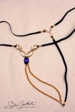 String bijou Caresses du Nil - or - Un string bijou rare, sensuel, qui orne vos reins en secret...