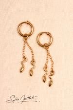 Anneaux intimes Serpents - Or - Paire d'anneaux intimes, pendentifs serpents miniatures.