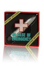 Emergency mini vibrator - En cas d'urgence sexuelle, brisez la glace avec ce Kit de premier secours.