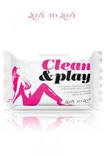 Clean & Play - pack de 10 lingettes nettoyantes - 10 lingettes nettoyantes pour sextoys avec antibact�rien.