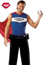 Costume Captain 6-Pack - Costume de super h�ros au pouvoir indispensable : servir des canettes toujours fra�ches !