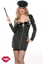 Costume Corrections Officer - Costume d'officier de police sexy compos� de six pi�ces pour mener un strip-tease en bon ordre !