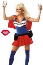 Costume Refreshinator - Un costume de super h�ro�ne au pouvoir tr�s sp�cial : servir des boissons toujours fra�ches !