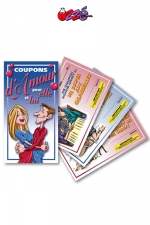 Coupons d'Amour - 5 coupons d'amour pour elle et 5 pour lui, pour offrir des faveurs coquines � votre partenaire.