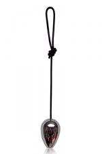 balle anale luxe acier - Une luxueuse balle anale de 4 cm de diam�tre en m�tal lourd pour des moments de plaisirs intenses.