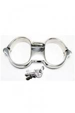 Menottes Turbo High Security - Menottes de poignets haute qualit� et haute s�curit�, en acier inoxydable.