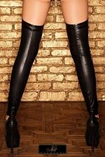 Bas wetlook Kathlyn - Bas jambi�re en wetlook mat, ils gainent parfaitement vos jambes.