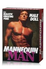 Poup�e homme Mannequin Man : Une belle poup�e gonflable masculine avec son p�nis r�aliste et vibrant.