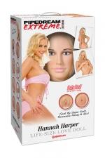 Poup�e gonflable Hannah Harper - Une poup�e de la collection Pipedream Extreme Dollz, les poup�es r�alistes � taille humaine.