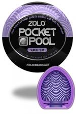 Zolo Rack EM - Masturbateur de poche Pocket Pool � Rack�Em de marque Zolo, avec texture en cercles nervur�s.