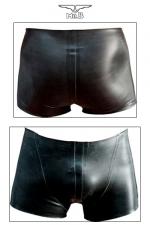 Rubber Shorts - Short court en latex v�ritable aux d�coupes anatomiques avantageuses.