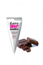 Berlingot Love me tender chocolat - Une huile gourmande et chauffante au chocolat pour pimenter vos jeux �rotiques.