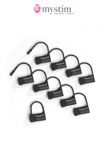Scell�s plastiques pour Pubic Enemy N�1 - Mystim - 10 cadenas plastique mono-utilisation pour sceller votre cage de chastet�.