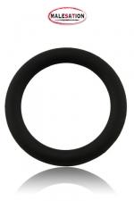 Cock-Ring  Silicone - Malesation - Cockring noir haute qualit� en silicone disponible dans un diam�tre de 4 cm, 4,5 cm et 5 cm.